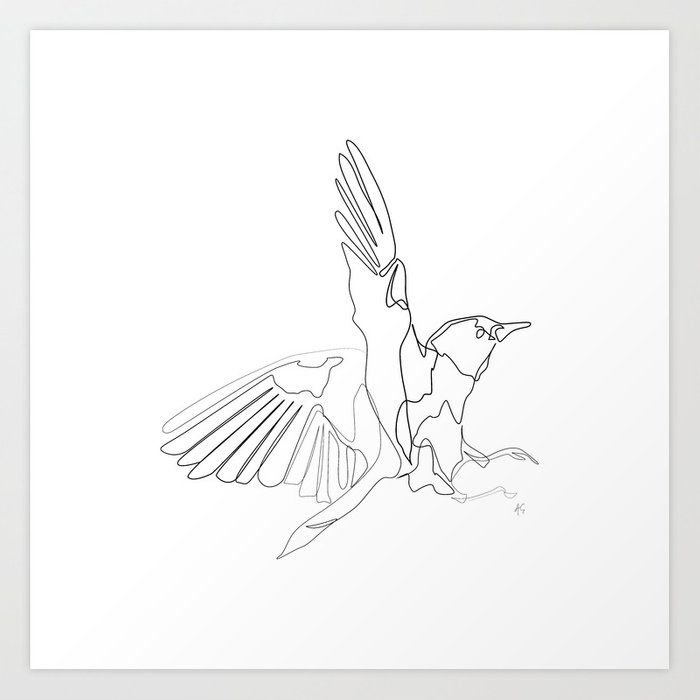 Animals Collection One Line Minimal Bird Print Art Print By Annette Elisse Design Animal Line Drawings Bird Art Print Bird Line Drawing