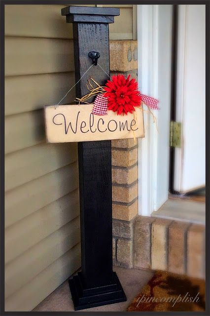 ipincomplish: Welcome Post and Sign! So adorable!