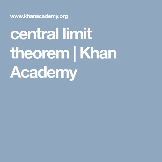 central limit theorem          | Khan Academy