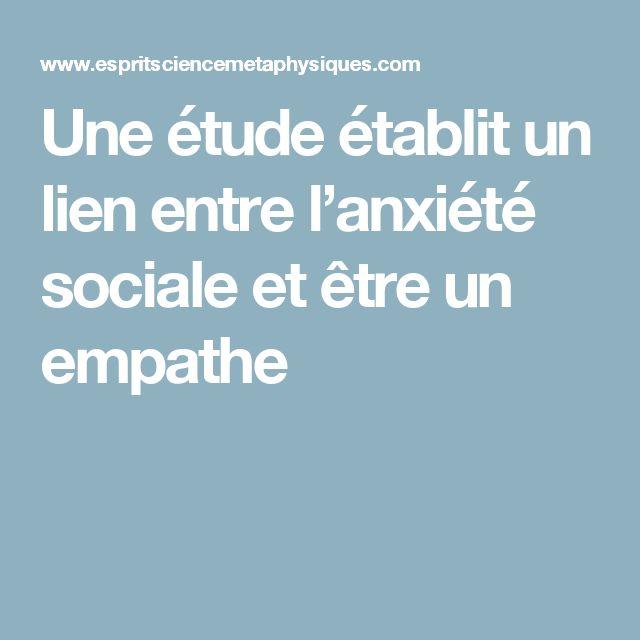 Une étude établit un lien entre l'anxiété sociale et être un empathe