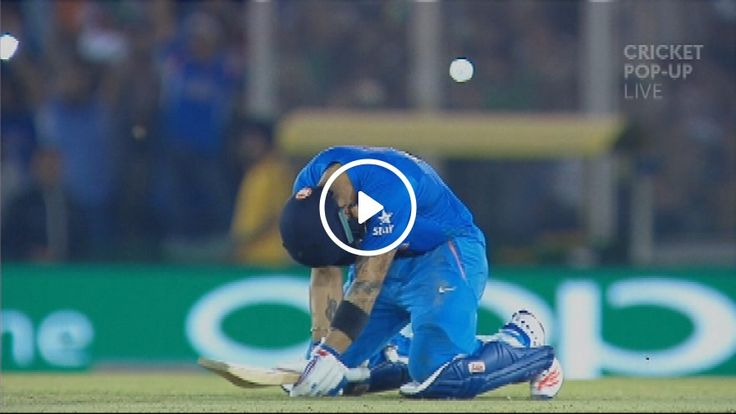 Virat Kohli scored an unbeaten 82 to propel his side into the Twenty20 semifinals. Captain MS Dhoni nearly brought Kohli to tears by hitting the winning runs in the last over. Source: SKY