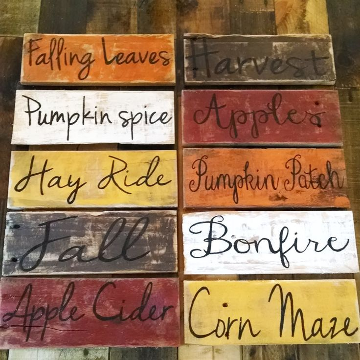 These fall pallet board signs with 10 word and 6 color options will have you feeling ready for fall. All are hand painted and ready for a spot…