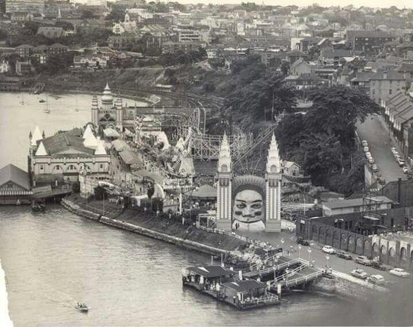 Luna Park View Taken From The Sydney Harbour Bridge Australia C