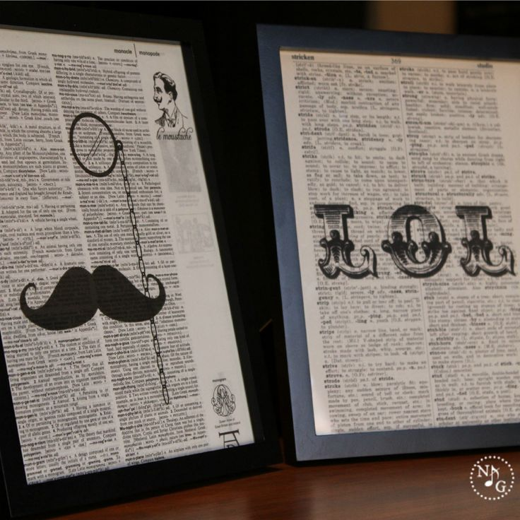 18 Easy Budget Decorating Ideas That Won T Break The Bank: Easy DIY Vintage Printed Dictionary Artwork