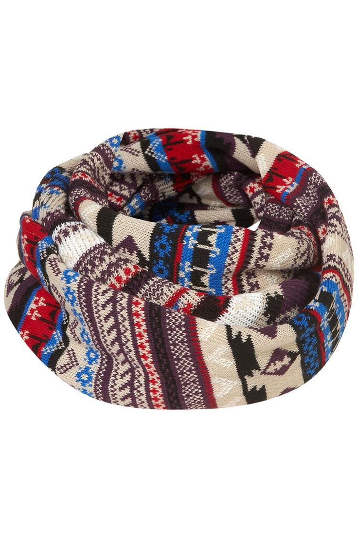 Aztec Fairisle Snood - Scarves - Accessories - Topshop USA