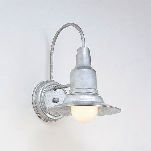 Galvanized One Light Outdoor Wall Sconce Hi Lite Wall Mounted Outdoor