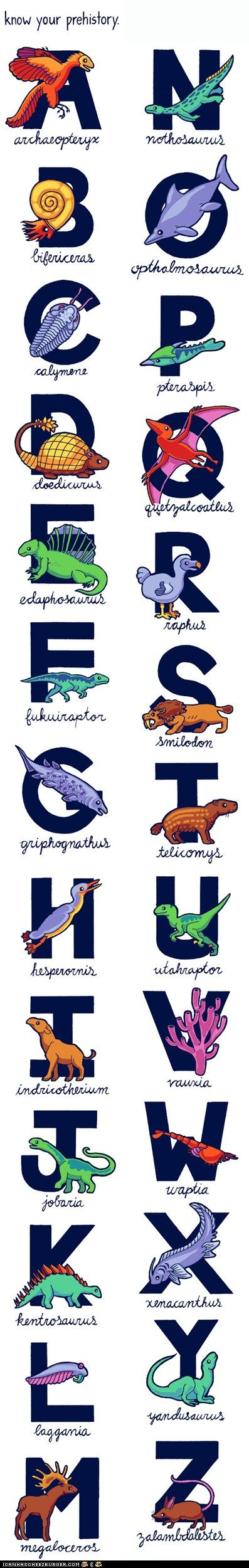 The Prehistoric Animal Alphabet - I wish this were a print - D would love it!