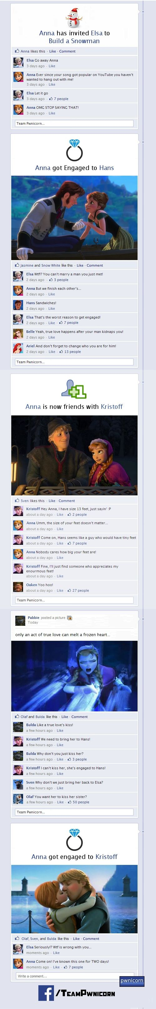 Disney's Frozen on facebook