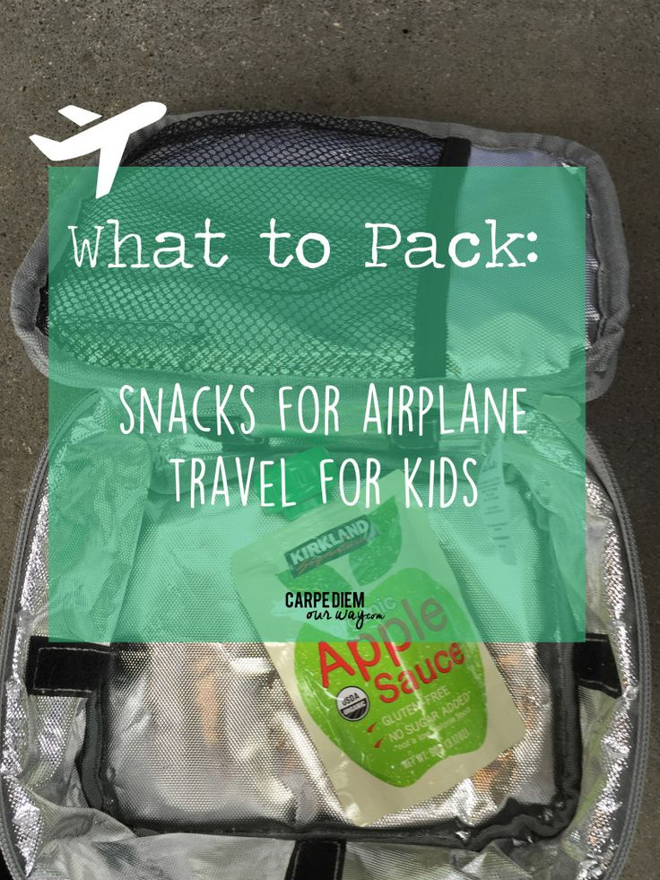 What to Pack: Airplane Snacks for Toddlers