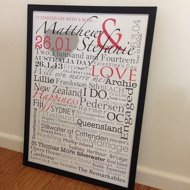 Wedding & Engagement wallart created by memories on walls.