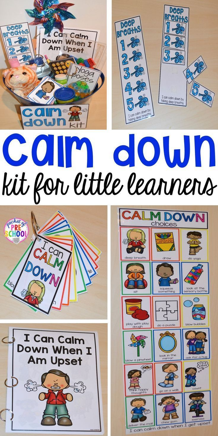 Calm Down Techniques will help you teach your students strategies to calm down when they are upset. It includes a class read aloud, calm down posters, calm down cards, yoga cards, deep breaths visual, book list, positive notes, and more! Perfect for preschool, pre-k, and kindergarten.