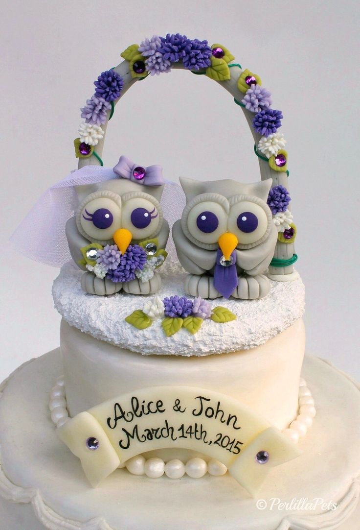 Owl cake topper for a purple wedding https://www.etsy.com/listing/94416780/owl-love-birds-wedding-cake-topper-with