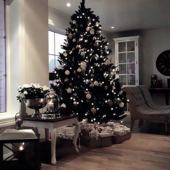 35 Black Christmas Tree Ideas Coz Everything Else Is Just Background Noise Blackchristm Black Christmas Trees Christmas Tree Inspiration Cool Christmas Trees
