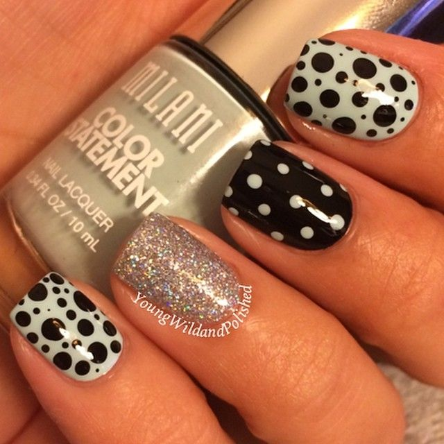76 best nail art polka dot nails images on pinterest polka dot instagram post by nicole young wild and polished youngwildandpolished polka dot nailspolka dotsnail art suppliesblack prinsesfo Gallery