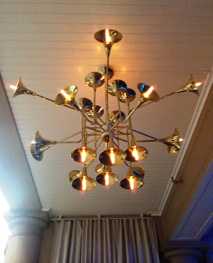 Lights The Garage London: Trumpet Chandelier