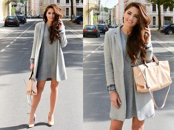 Zara Coat, Cubus Dress-by Monika M., girl from Ruszów, Jelenia Góra, Poland, Poland