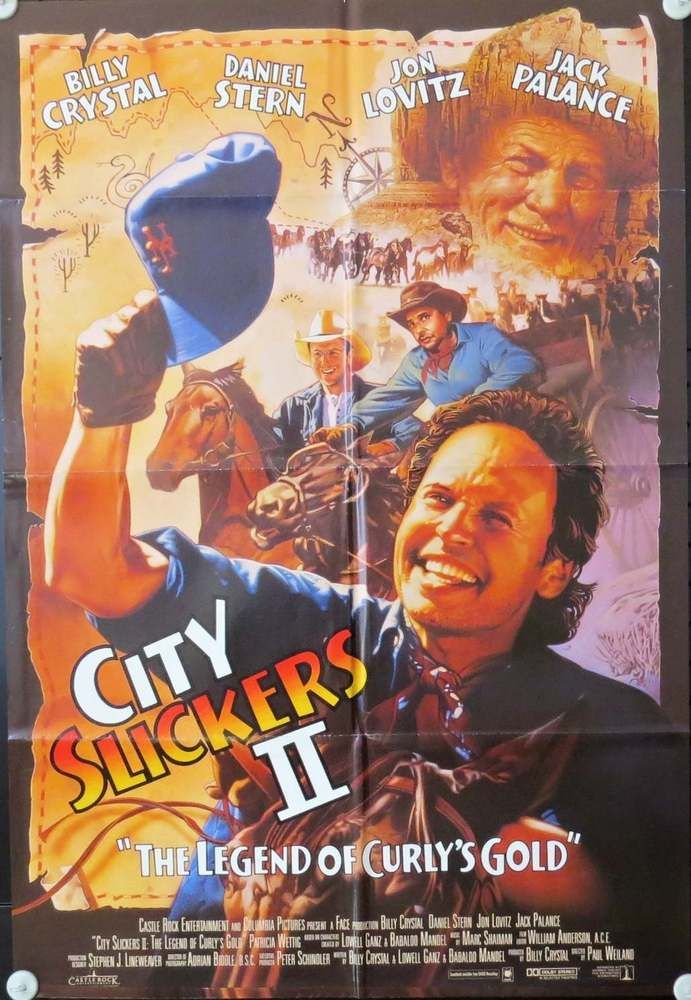 City Slickers 2 Legend Of Curlys Gold 27x41 One Sheet From The 1994 Film Gold Movie Gold Movie Poster City Slickers