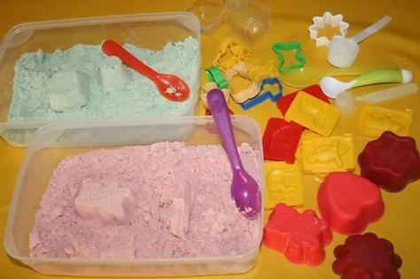 Sable magique maison! La recette la plus simple jamais vue!! - Bricolages - Des bricolages géniaux à réaliser avec vos enfants - Trucs et Bricolages - Fallait y penser !