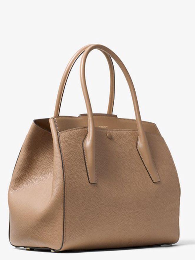 438f5ffc9157c MICHAEL KORS Bancroft large calf leather bag