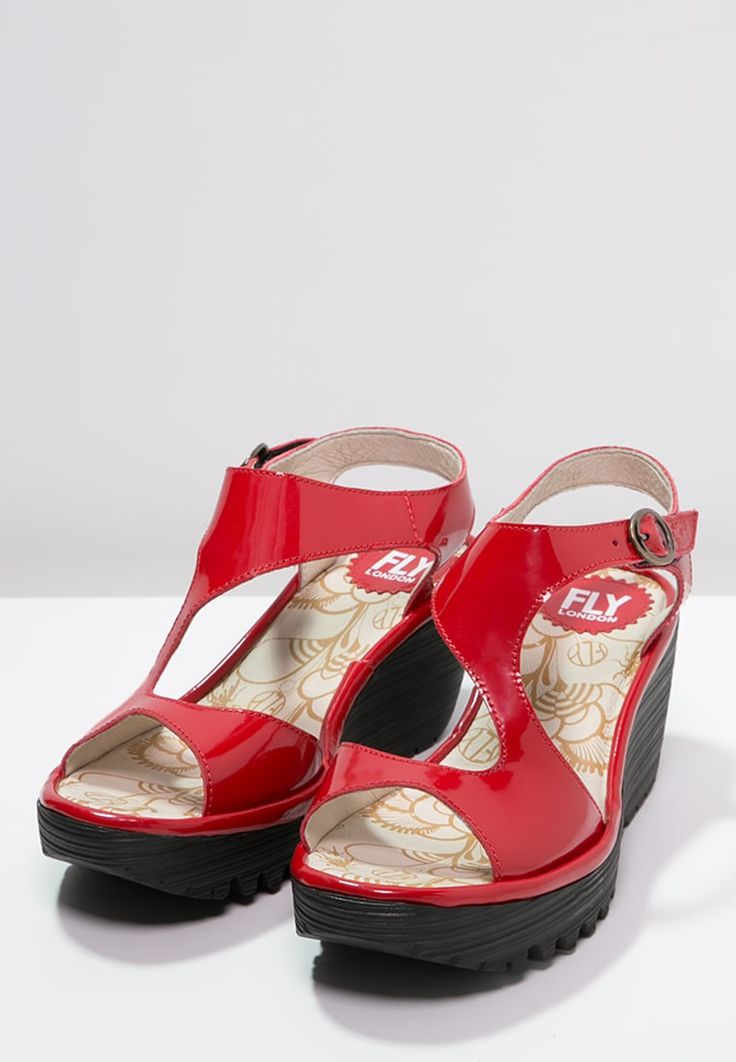 Fly London YANCA - Plateausandaler - red - Zalando.dk