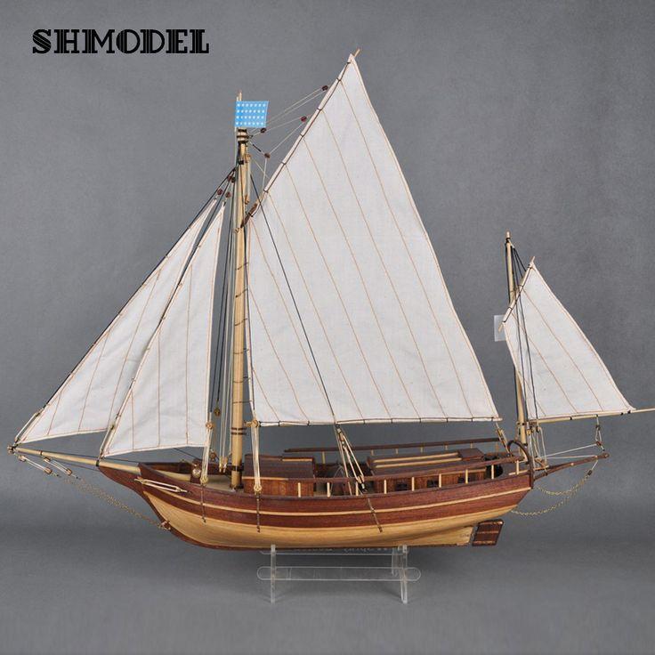 Модель Лодки Деревянные Бостон Волны Деревянный Парусник модель Комплект Хобби Diy Поезд Деревянные Модели Корабля Комплекты Бостон спрей нет