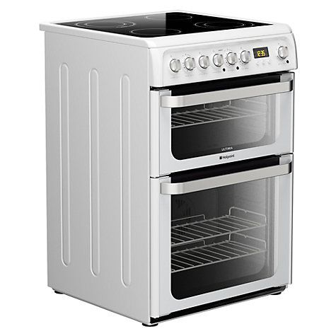 Amazing Buy Hotpoint HUEPS Electric Cooker White Online at johnlewis