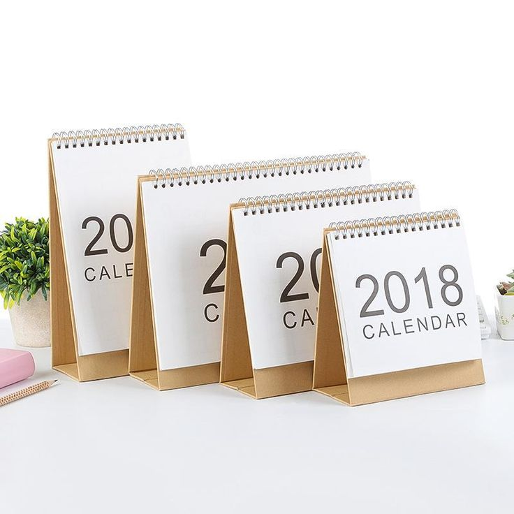 2018 Simple Style Desk Calendar DIY Hand-painted Memorial Paper Table Calendars Weekly Planner Many Styles