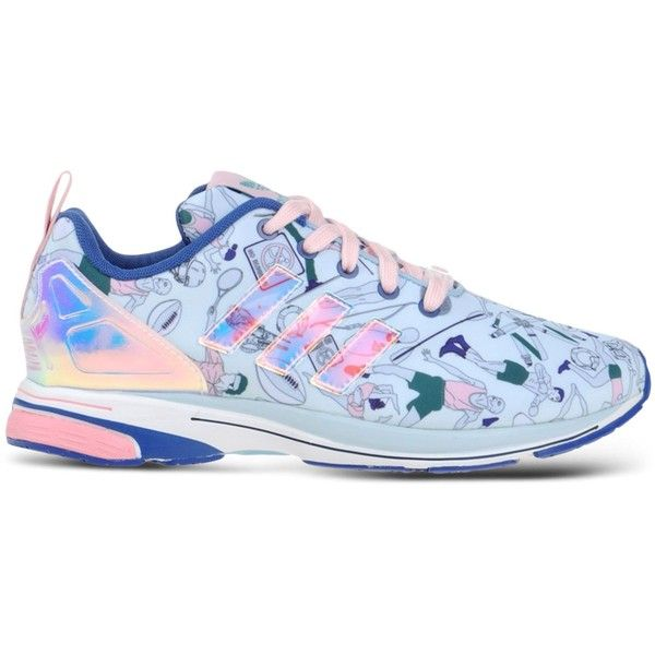 Adidas X Mary Katrantzou Low-Tops & Trainers ($265) ❤ liked on Polyvore featuring shoes, sneakers, sky blue, adidas sneakers, adidas trainers, adidas footwear, adidas shoes and adidas