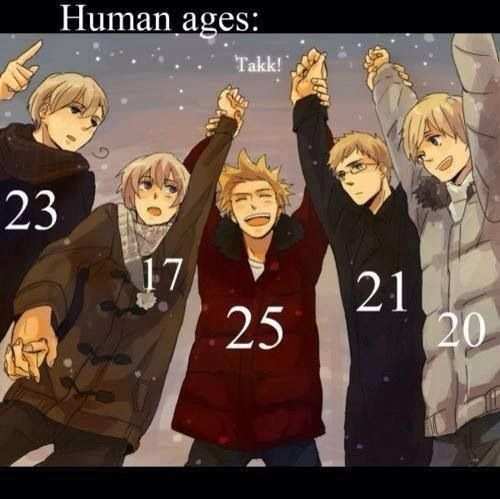 Nordic Ages | Norway Iceland Denmark Sweden and Finland | Hetalia
