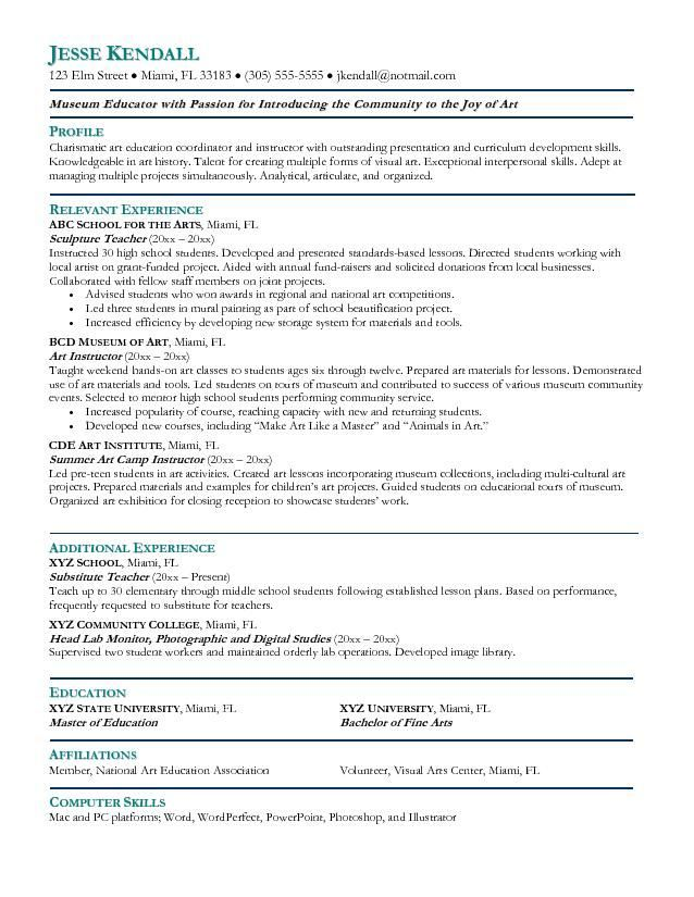 Art History Major Resume - Experts' opinions