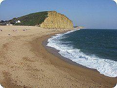 West Bay, Bridport, Dorset. Golden Gateway to the Jurassic Coast, UK