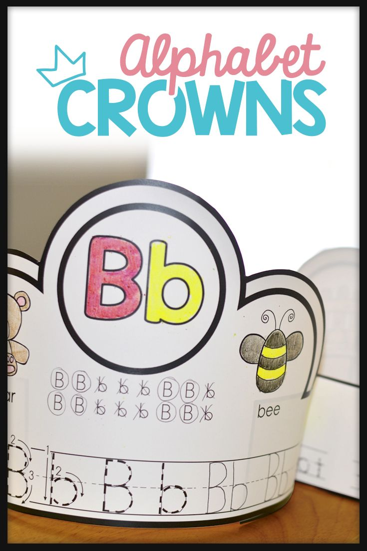 alphabet activities  alphabet crowns  alphabet hats