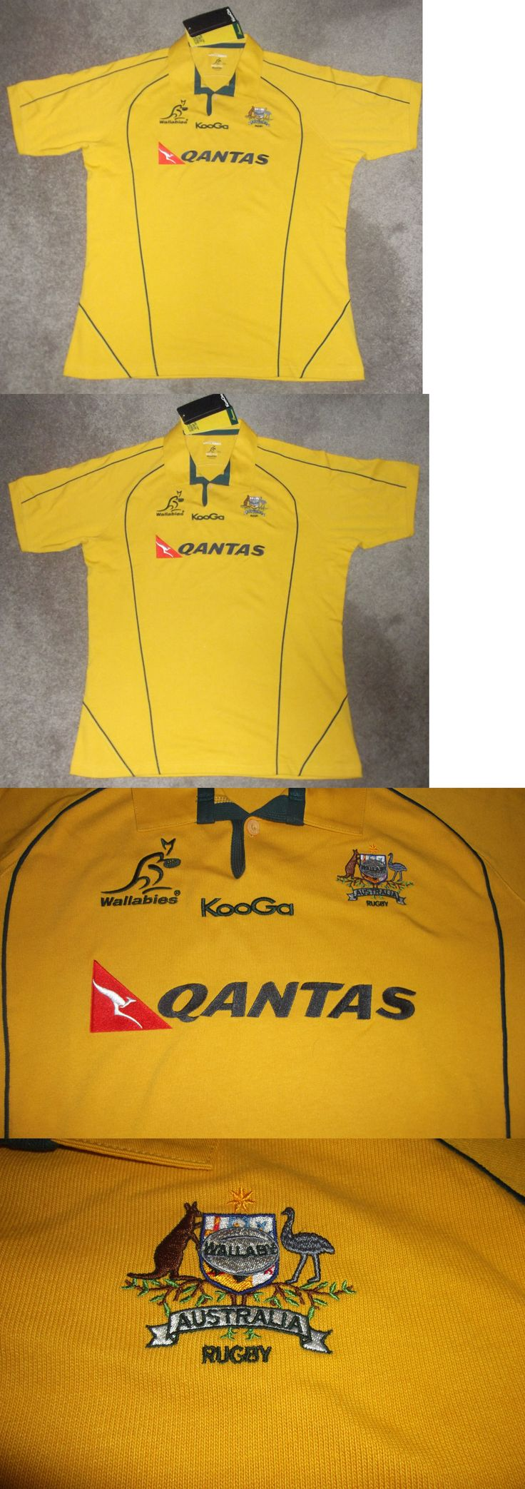 Rugby 21563: Kooga Gold Traditional Jersey Wallabies 2011 Ss Australia Rugby Gear Polo 3Xl -> BUY IT NOW ONLY: $64.99 on eBay!