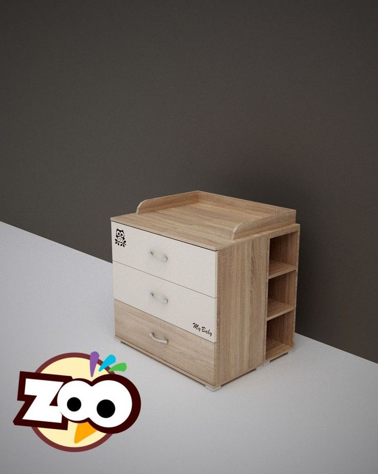 Todi Zoo pelenkázó mögé tehető nyitott polc, Todi Zoo pelenkázó mögé tehető nyitott polc sonoma tölgy színben , Zsebi Babaáruház