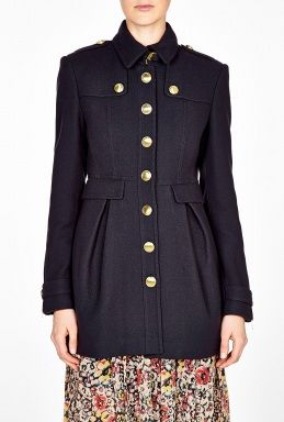 Wool and Cashmere Blend Skirted Coat by Burberry Brit