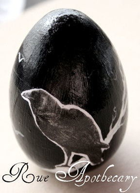 The Raven Decorative Egg by RueApothecary on Etsy, $10.00