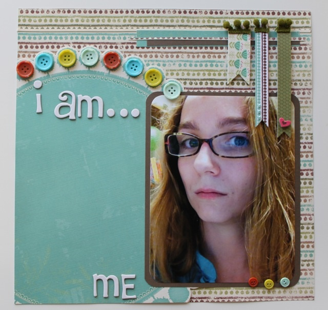 """""""I am... me"""" 12x12 #scrapbook page    © Forever Daisies Blog"""