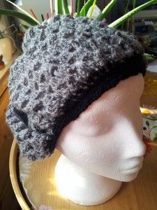 grey shell slouchy hat
