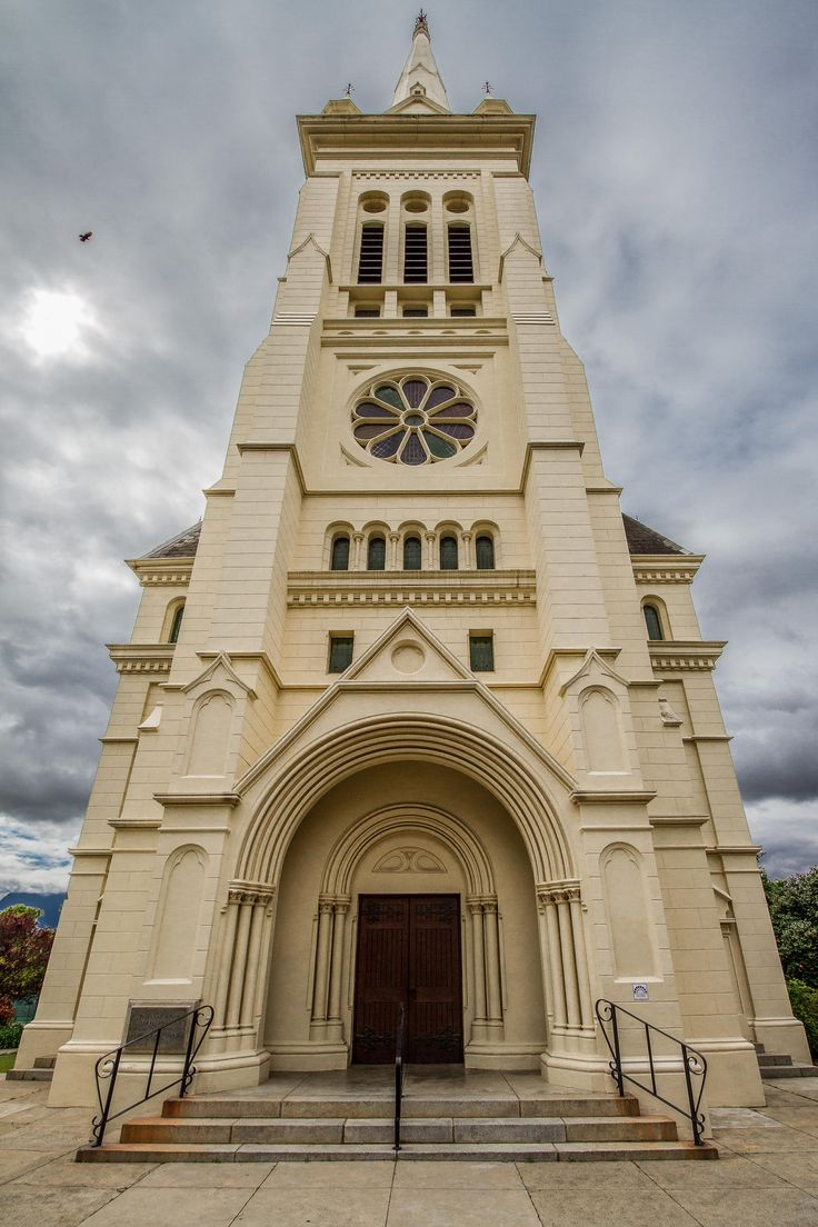 A view looking up from below of the Toringkerk in Paarl, South Africa.