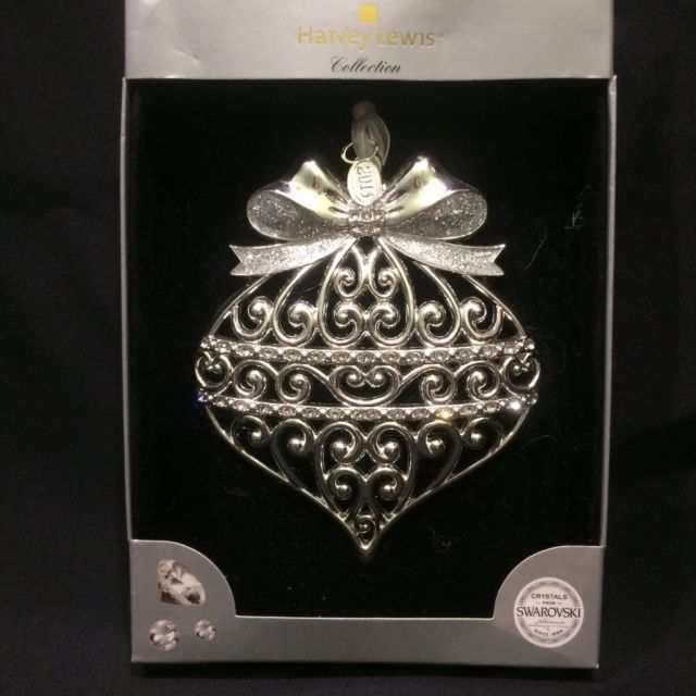 """/""""Peace/""""Luxury Ornament Harvey Lewis Collection with Swaroski Crystals"""