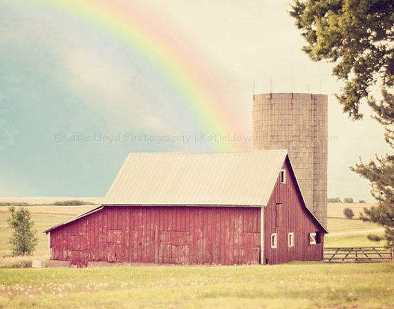Somewhere Over the Rainbow - 11x14 Fine Art Country Photography Print - Wizard of Oz Inspired Kansas Farm Home Decor Photo: The Wizard Of Oz, Country Photography, Inspiration Photos, Rainbows, Dr. Oz, Country Life, Favorite Movie, Photography Inspiration