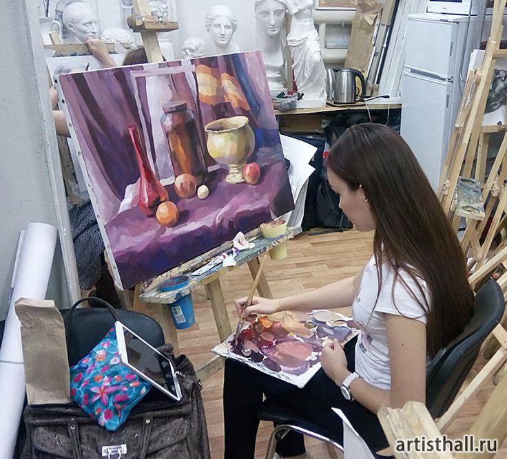 Наша художественная мастерская. Фото-5 #stilllife #натюрморт #живопись #художник #арт #живопись-уроки #уроки #мастерская #studio #artworkshop #paint #painting #acrylic #темпера
