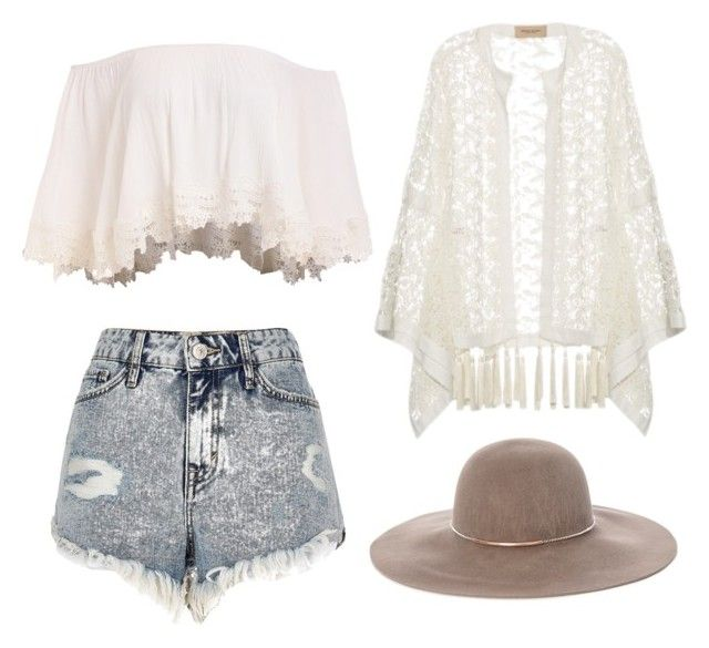 """Untitled #8"" by nastja-pessi on Polyvore featuring River Island, ADRIANA DEGREAS and Eugenia Kim"