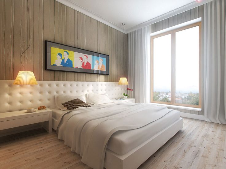 Projekt wnętrza sypialni w kolorach neutralnych i naturalnych – Tissu. Sypialnia utrzymana jest w kolorach chłodnego beżu i bieli z pop artowym obrazem nad łóżkiem. Wnętrze które nigdy się nie znudzi, a dodatkami możemy tworzyć różne aranżacje i warianty kolorystyczne. http://www.tissu.com.pl/zdjecia/275