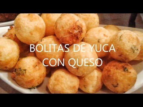 Bolitas de Yuca rellenas de queso, croquetas de yuca, fried yucca, cassava - YouTube