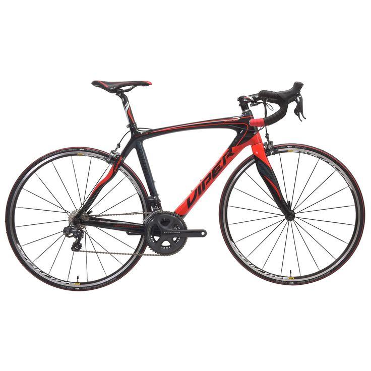 Vélo de Course VIPER GALIBIER Shimano Ultegra Di2 6870 34/50 Noir/Rouge 2016 - Probikeshop