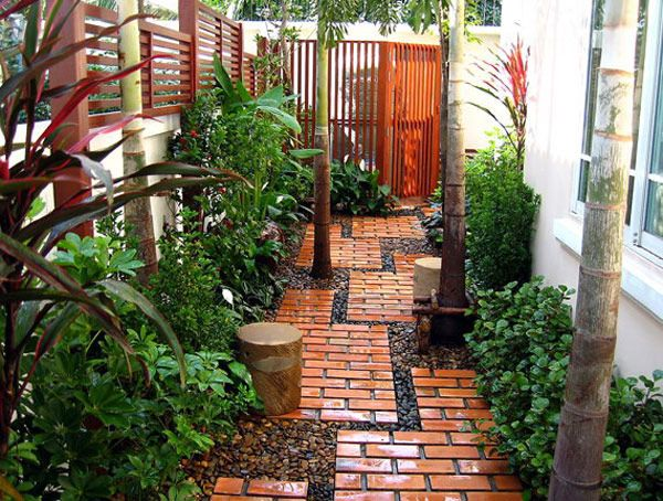Brick pathway...perfect for both sides of the house in the backyard!!