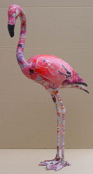 paper mache flamingo... now that I know how to do them...
