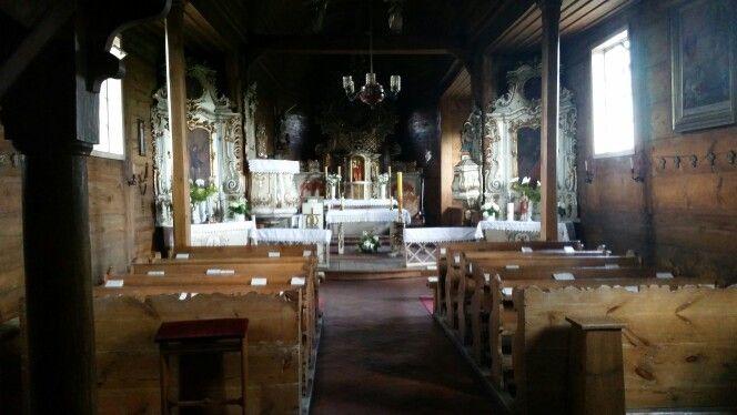 Drewniany kościółek w Łukowie