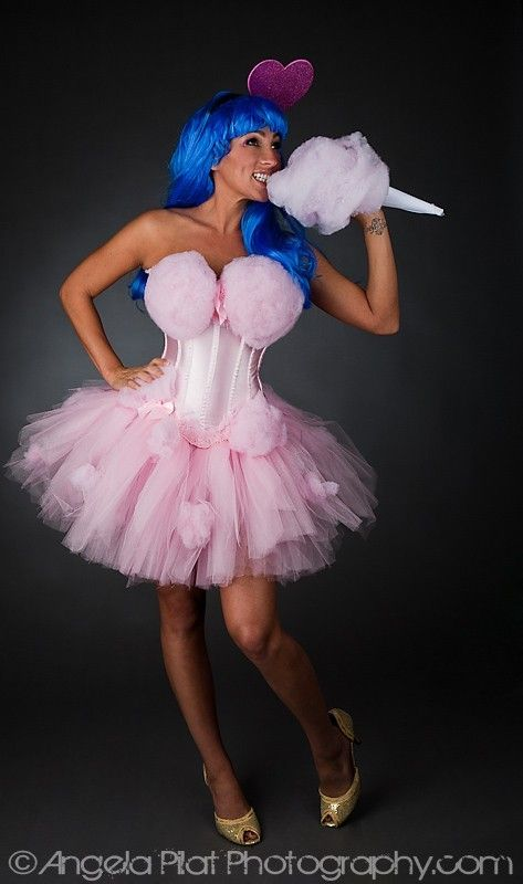 Custom order pink cotton candy dress Katy Perry inspired. $299,00, via Etsy.